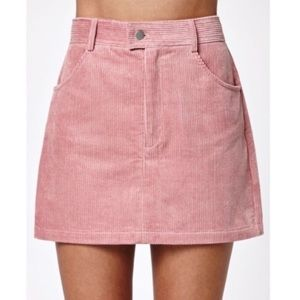 Kendall & Kylie light pink corduroy skirt